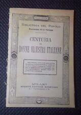 CENTURIA DI DONNE ILLUSTRI ITALIANE 1883 N. 150 BIBLIOTECA DEL POPOLO