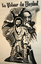 Vintage gouache painting The Thief of Bagdad movie poster