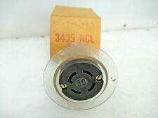 NEW HUBBELL 30A RECEPTACLE 3435NCL