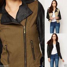 Zip Cotton Outdoor Biker Jackets for Women