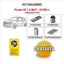KIT TAGLIANDO 4 FILTRI FIAT Punto III 1.3 MULTIJET 01/05->