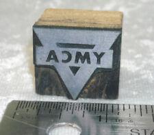 Vintage YMCA LOGO Printers Block Letterpress Metal engraved Stamp