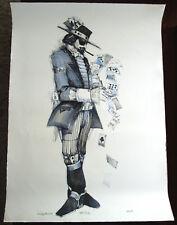 JOHN DOYLE Original Lithograph, Gambler, Signed State Proof 1974