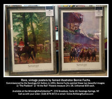 Saratoga Race Track - Two Rare Unframed Vintage Posters (1991) by Bernie Fuchs