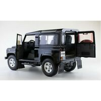 KYOSHO 8901BK 8901FW LAND ROVER DEFENDER 90 model car black & Fuji white 1:18th