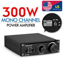 HiFi 300W Mono Channel Subwoofer / Full-Frequency Digital Amplifier Audio Amp