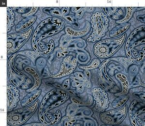 Fish Paisley Koi Persian Pickle Spoonflower Fabric by the Yard