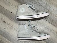 Converse All-Star Chuck Taylor Silver Glitter 659019C Shoes Junior Size 4 Zip Up