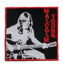 GET WELL - MALCOLM YOUNG, Gewebter Aufnäher ♫ AC/DC ♫ Woven Tribute Patch ♫ ACDC
