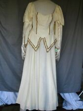 Medieval Renaissance Princess Queen Noblewoman Ivory & Gold Dress Gown Medium