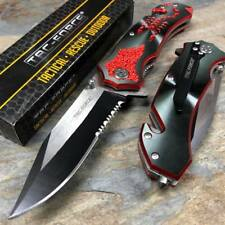 Tac Force Assisted Open Red Scorpion Fantasy Black Blade Pocket Knife