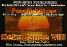 (RAVE FLYER 2004) DEKADANCE 8 @ DONCASTER,THE DOME. TOPGROOVE,M ZONE,LEE UHF