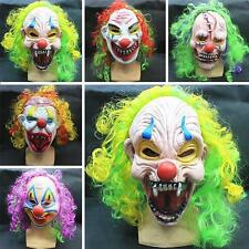 New Halloween Scary Mask Circus Clown Head Adult Costume Accessory Random Color