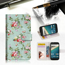 Royal Garden with paisley Wallet Case Cover For Alcatel Pop Star -- A023