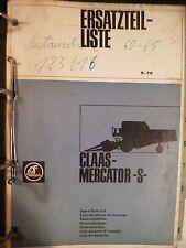 Claas Mähdrescher Mercator S Ersatzteilkatalog