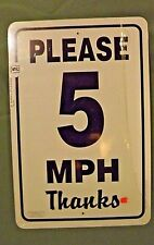New Please 5 MPH  Barn Sign  from Noble Beast Graphic