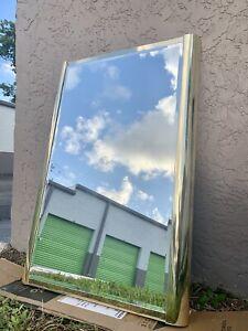 Vintage 1970/ Ello Brass Wall Mirror - Mid Century Modern