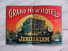 GRAND NEW HÔTEL, JERUSALEM, PALESTINE...RARE ORIGINAL RICHTER LABEL...1880s