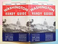 MAP WASHINGTON TRAVEL GUIDE 1950 SESQUICENTENNIAL ISSUE 88 ILLUSTRATIONS