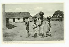 Water Carriers—Dar es Salaam—Antique TANZANIA Postcard—Natives 1910s