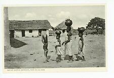 Water Carriers—Dar es Salaam—Antique TANZANIA Postcard—Natives 1910s