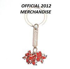 Londres 2012 jeux olympiques union jack charms porte-clés officiel souvenir cadeau emballé