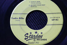 """FRANKIE MILLER 4-Song 45rpm Starday Records Nashville feat: """"Family Man"""""""