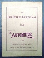 IRIS CARS PUBLICITY PUBLICATION THROUGH MAY + JUNE 1905