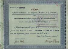 Peru 1944 Tissue Manufacturing Manufacturera de Tejidos 10000 soles Uncancelled
