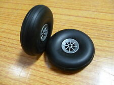 RA AA 1209 Model Aircraft Rubber Wheels 3.0 inches 73mm Pk. of 2