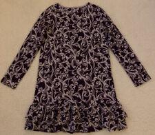 Lands End Kids Girls Size 10/12 Purple Print Dress