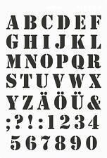Kunststoff Schablone MEYCO Saloonschrift Großbuchstaben Zahlen 66053