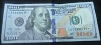 Mint $100 DOLLAR BILL STAR US Federal Reserve NOTE SERIES 2009A  LA08890475*