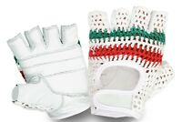 Cycling Gloves Real Leather Crochet Back Half Finger Vintage Style Sports Glove