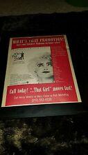 Madonna Who's That Girl Rare Original Radio Promo Poster Ad Framed!