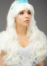 Womens Long White Snow Queen Wig DOES NOT INCLUDE TIARA