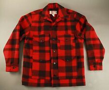 New Men's Filson Mackinaw Wool Cruiser Red and Black Style 110 Size 44 NWOT