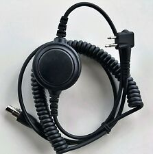 Headset Coiled Cord Motorola 2P w/ptt Kelvar Reinforced Racing Radios Electr
