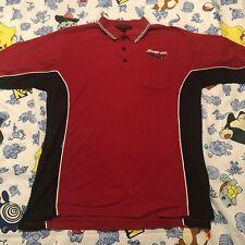 Snap On Racing Polo Shirt Checkered Collar Men's Large