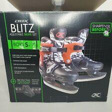 Dbx Blitz Adjustable ice Skate Set Boys Or Girls Small J10- J13
