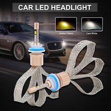 11000LM LED H11 Headlight Kit 3000K 6000K Dual Color Bulbs Fog Driving Lights