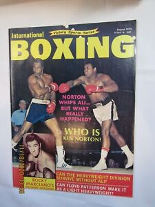 Vintage 1973 International Boxing Magazine Norton Vs. Ali Fight Action On Cover