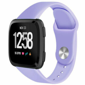 Silicone Rubber Watch Replacement Band Strap Wristband For Fitbit Versa 1 2 Lite