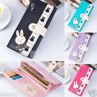 New Women Lady Rabbit Pattern Clutch Coin Long Purse Wallet Card Holders Handbag
