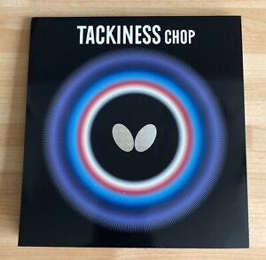 Butterfly Tackiness Chop Table Tennis Rubber, Black, 1.5mm Sponge