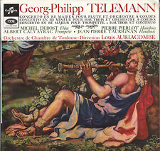 LOUIS AURIACOMBE / M. DEBOST, TELEMANN CONCERTOS 60'S LP STEREO SAXF 1060