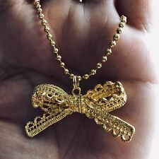 """Gold Bow Knot Minimalist Simple Elegant Pendant Gold Filled 16"""" or 18"""" Necklace"""