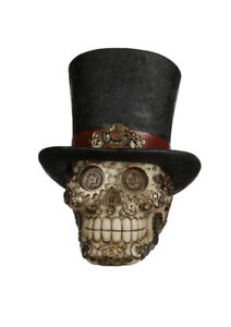 large Steampunk Style Skull with Top Hat