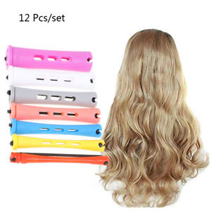 12 Pcs Cold Wave Hair Perm Rods Plastic Perming Hair Curling Rollers CurleZH