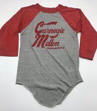 Carnegie Mellon University Softball Style Shirt True Vtg Velva Sheen Usa Small